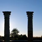 Columns and square