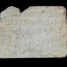 Inscription with baptismal scene