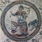 Mosaic of the Good Shepherd in unusual costume